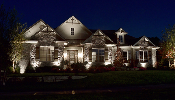 5 ideas for adding security to your home with outdoor lighting use outdoor lighting to accentuate your homes architectural details aloadofball Gallery