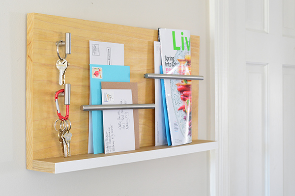 Mail Organizer Made with Cabinet Pulls