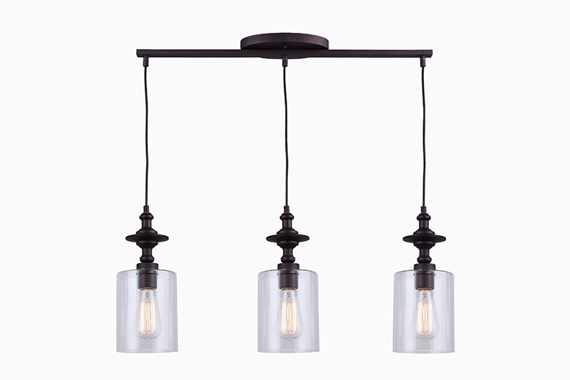Canarm York IPL586A03ORB 3 Light Pendant, Oil Rubbed Bronze
