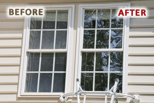 Clean Windows - Before & After