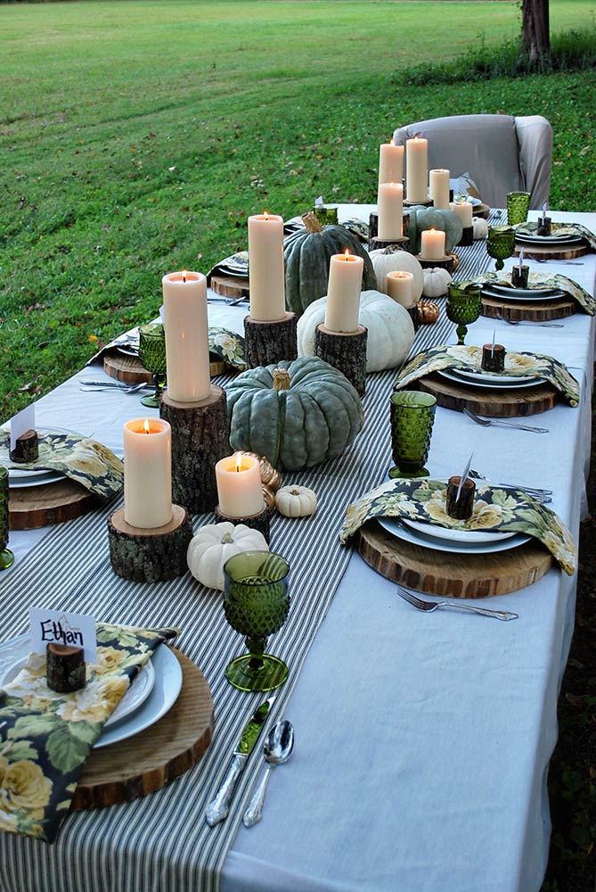 Enchanted Autumn Tablescape. Image: The White Buffalo Styling Co.