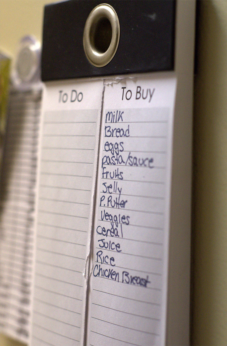 Make a grocery shopping list each week and stick to it. Photo: trenttsd / Flickr.