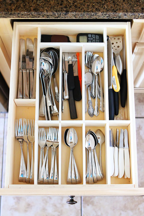 A neat silverware drawer makes it easy to find what you need when you need it.