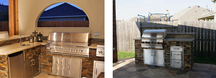 Outdoor kitchens. Photos courtesy of Texas Custom Patios.