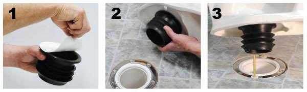 Wax-free toilet seal installation