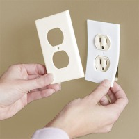 Install foam gaskets around electrical outlets to prevent drafts.