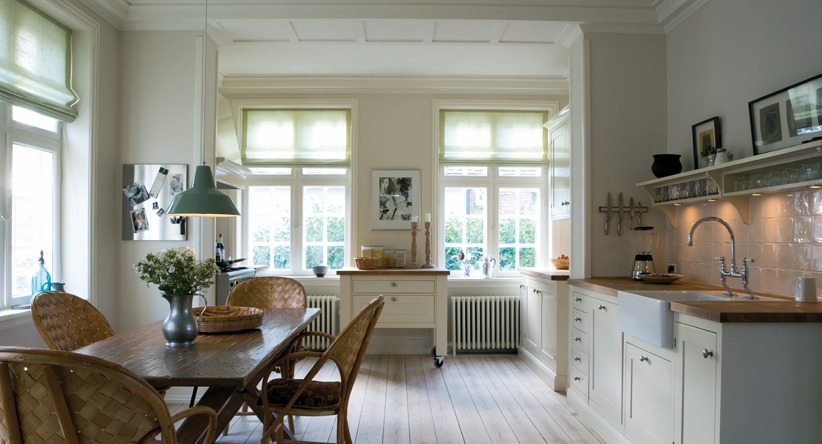 Strong Neutral Tone by Farrow & Ball and Feathery Blue by Farrow & Ball