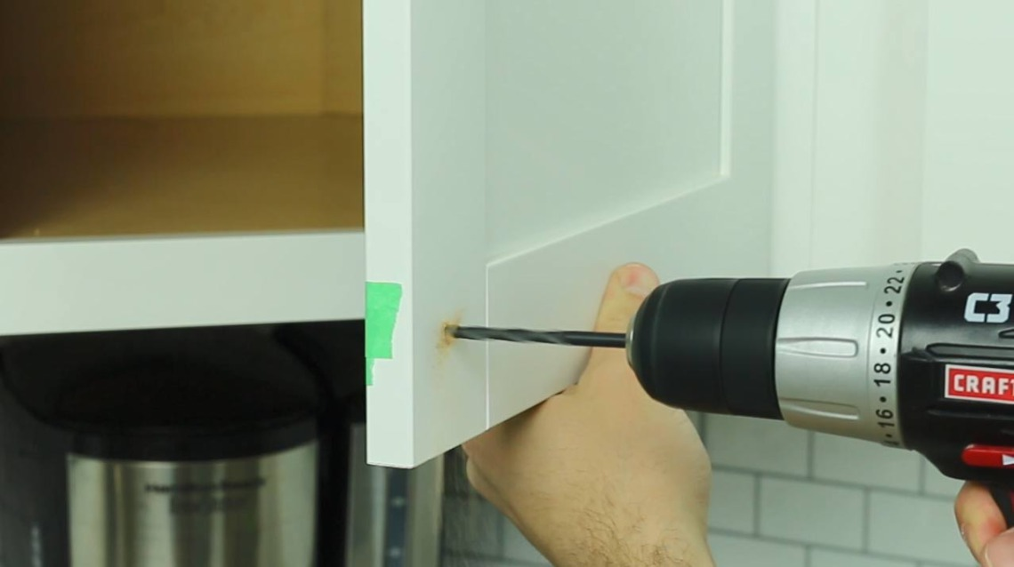 Step 3: Drill Holes into Cabinetry | Cabinet Hardware Installation