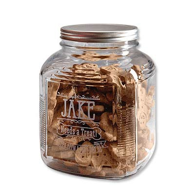 Dog Christmas Gift Idea: Personalized Treat Jar (via Orvis) | GreyDock Blog