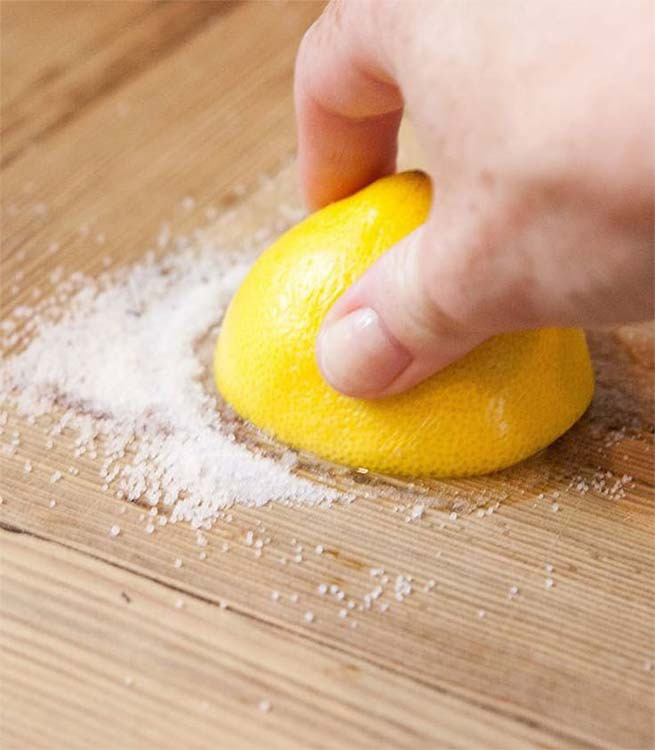 Clean butcher block counters with a mix of lemon juice and salt. | GreyDock Blog