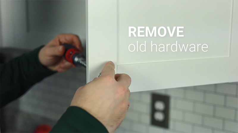 Replacing Cabinet Hardware - Step 1: Remove old hardware