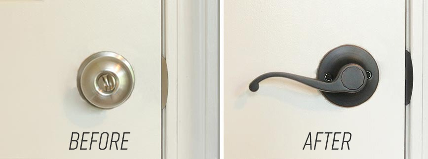 How to Replace a Door Knob with a Lever Handle | Before & After