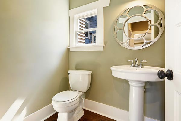 Choose lighter colored paints to open up your bathroom.