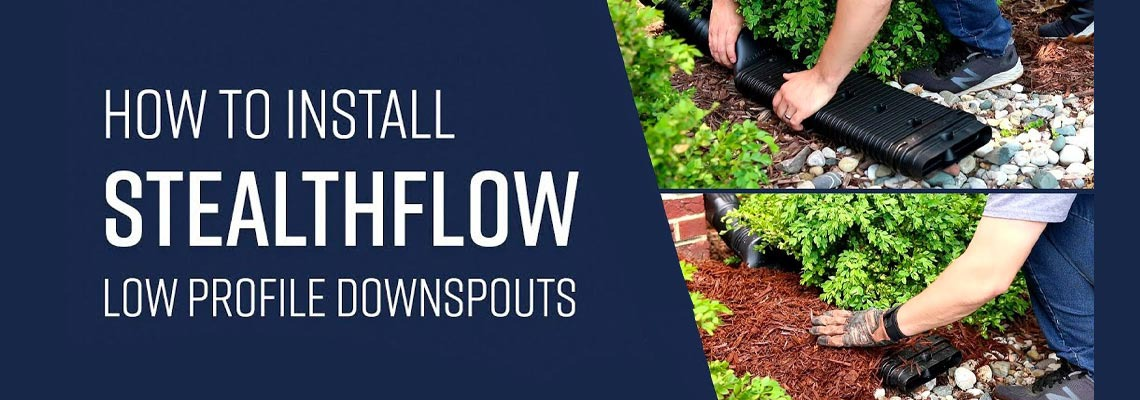 How to Install a StealthFlow Low-Profile Downspout