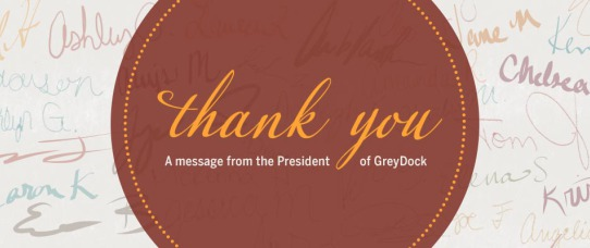 Thank You: A Message from the President of GreyDock.com | GreyDock Blog