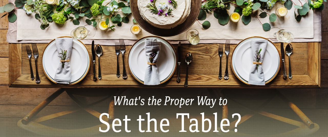 What's the Proper Way to Set the Table?