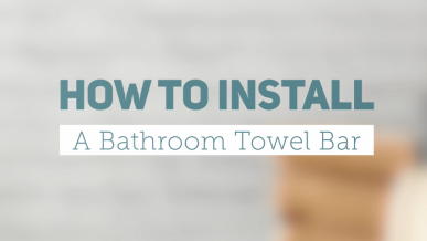 How To Install Towel Ring Set Screw