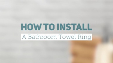 How to Install a Bathroom Towel Ring | GreyDock Blog