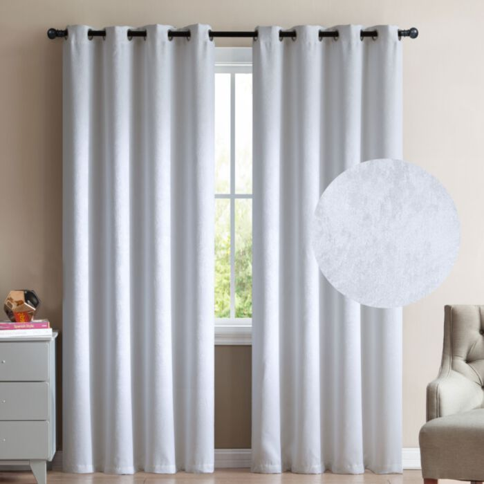 Blackout Window Curtains 96, White Room Darkening Curtains 96 Inch