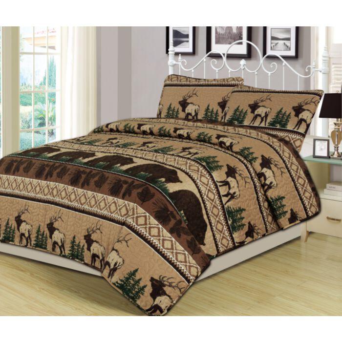 Accents Bear Mountain Queen Quilt Set, Mountain Lodge Bedding