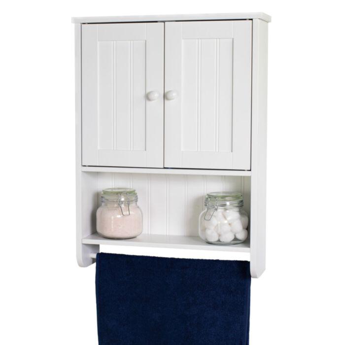 Bennington Country Cottage White Wall Mount Bathroom Medicine Cabinet Storage Towel Bar Discontinued No Longer Available Greydock Com