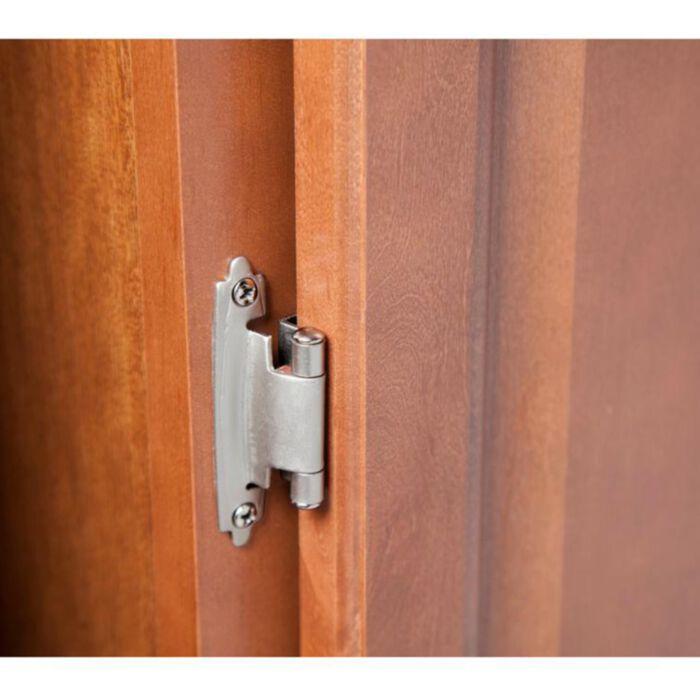 Classic Hardware Kitchen Cabinet Door, Satin Nickel Cabinet Hinges