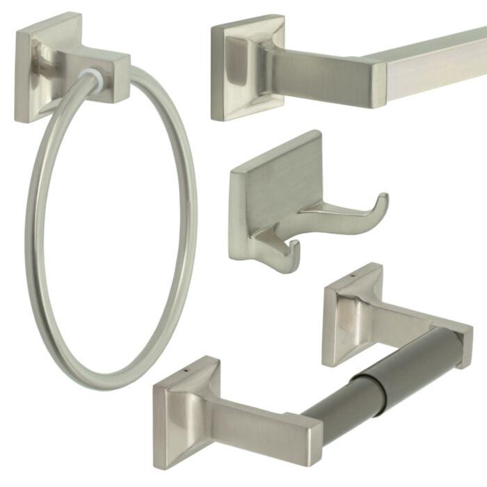 Brushed Nickel Bath Accessories Set Bath Accessories Towel Bar Bathroom Hardware