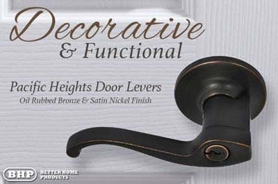BHP Better Home Products Pacific Heights Door Levers