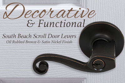 South Beach Door Levers From Better Home Products