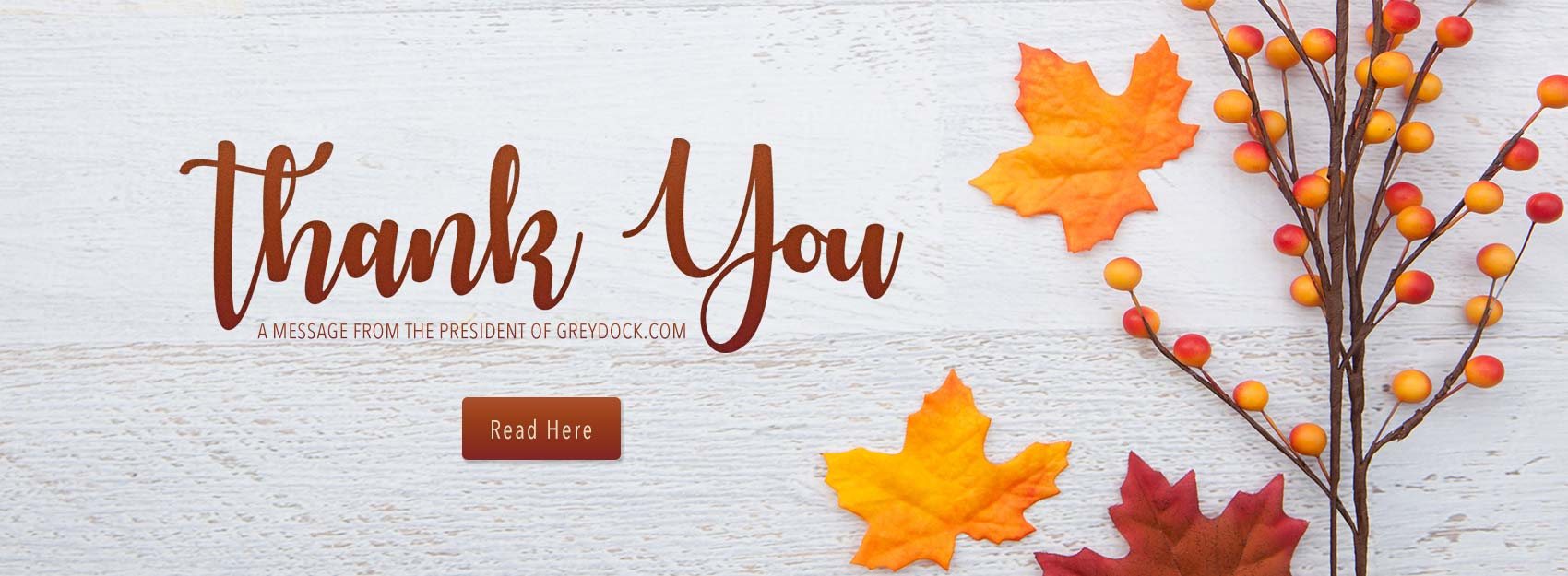 Thank You - A Message from GreyDock