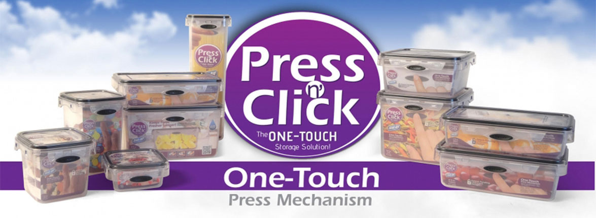 Stor-All Press N Click Food Storage Containers