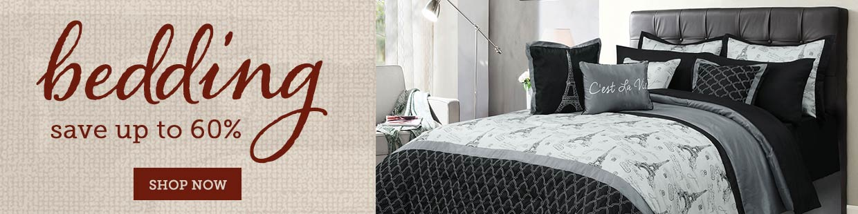 Dress Up Your Home Sale - Save up to 60% on bedding!