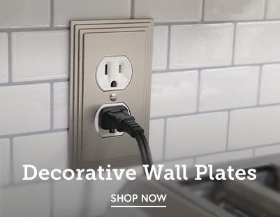 Update plain wall plates with our selection of decorative toggle switch, outlet, GFCI rocker plates and more.