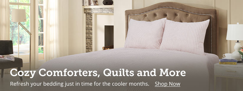 Shop warm and cozy comforters, quilts, sheet sets and more