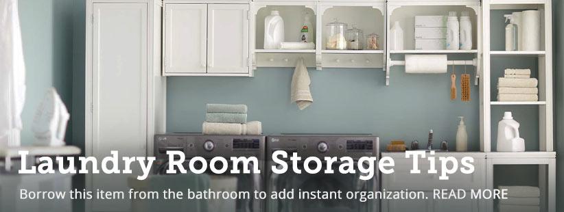 The Inexpensive Secret for Instant Laundry Room Organization | GreyDock Blog