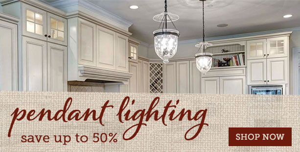 Dress Up Your Home Sale - Save up to 50% on pendant lighting!