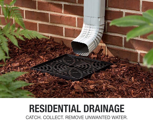 Keep your house safe from unwanted storm rain water and flooding with drainage items.