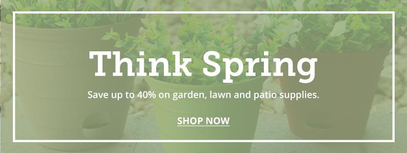 Save up to 40% on all garden supplies.