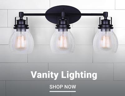 Shop and save on stylish bathroom vanity lighting.
